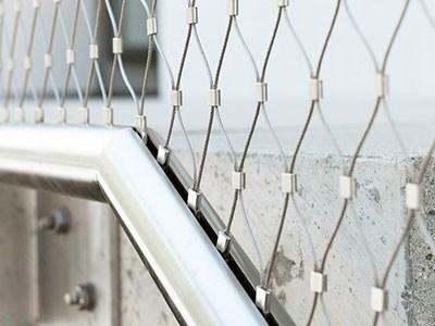 楼梯扶杆不锈钢绳网围栏