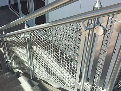 楼梯扶杆不锈钢绳网