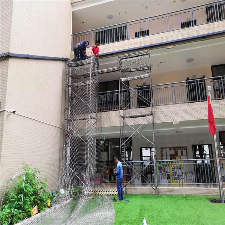 学校钢丝绳防坠网