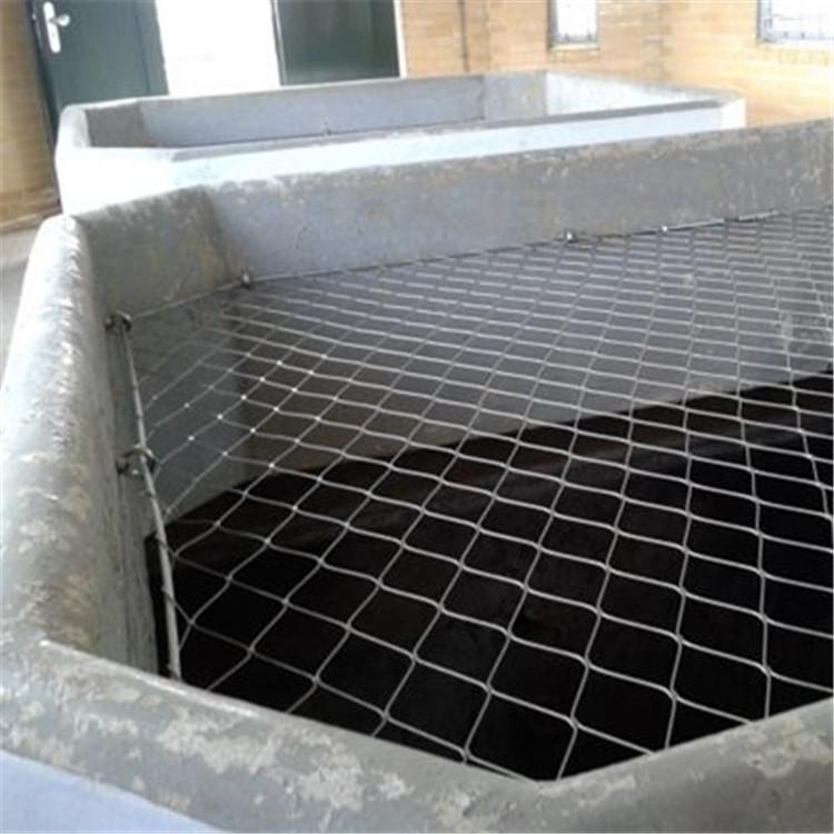 地铁通风口防坠网  井口防坠网 不锈钢绳网
