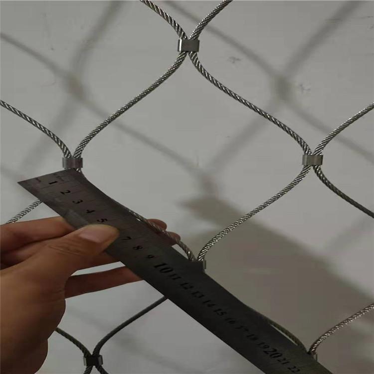 防坠落钢丝绳网 不锈钢绳网 介绍