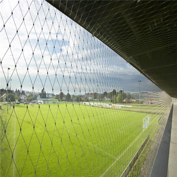 看台防护网  不锈钢绳网防护网