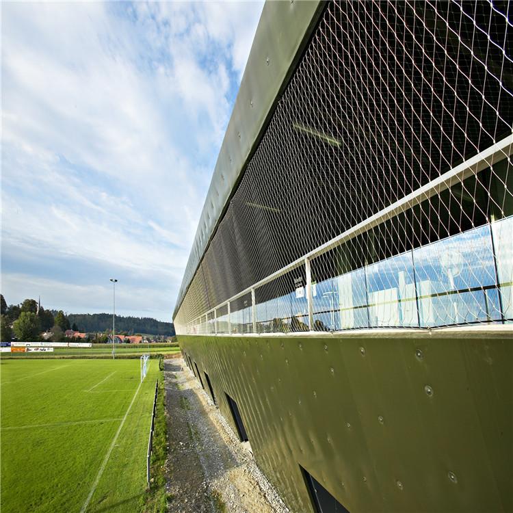 足球看台防护网  不锈钢绳网防护网