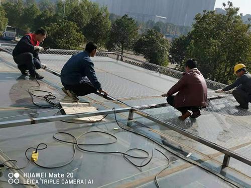不锈钢绳网 安装在湖南恒大楼盘